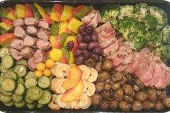 Nr. 38 - Grillplatte Fleisch, Garnelen, Gemüse